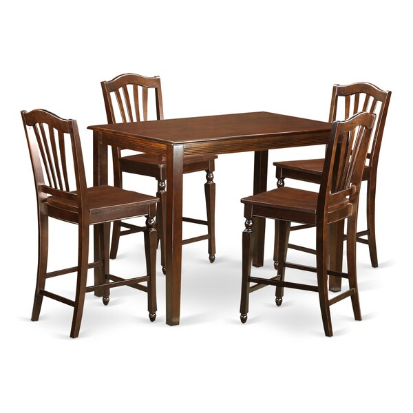 Yarmouth 5 Piece Counter Height Pub Table Set By East West Furniture Discount