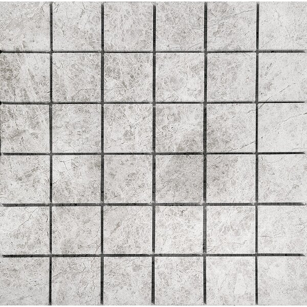 Marble 2 x 2 Stone Mosaic Tile in Antique Gray Polished by Parvatile