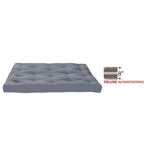 8 Medium Innerspring Full Futon Mattress by Alwyn Home