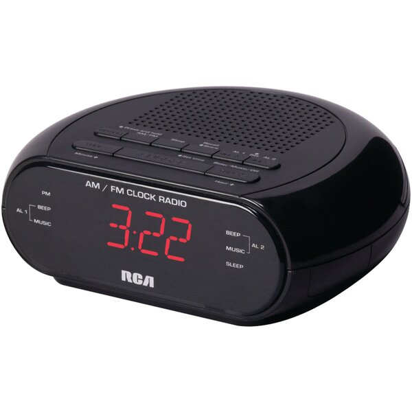 Dual Alarm Radio Tabletop Clock by RCA Products