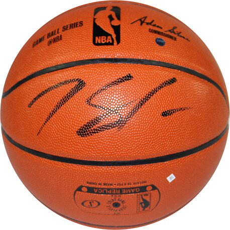 Decorative Karl - Anthony Towns Signed I/O Basketball by Steiner Sports