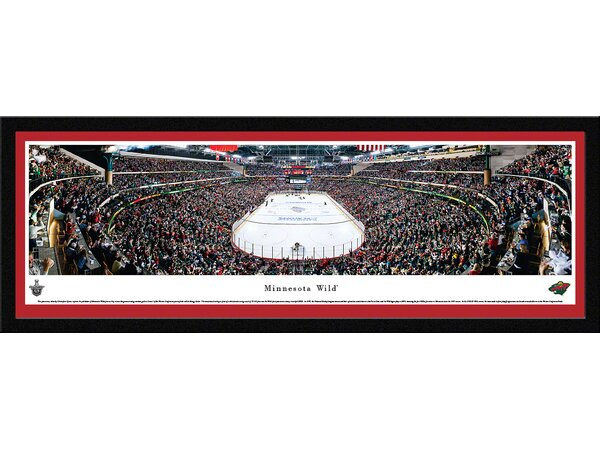 NHL Minnesota Wild - End Zone by Christopher Gjevre Framed Photographic Print by Blakeway Worldwide Panoramas, Inc