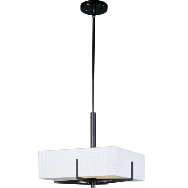 Denning 3-Light Shaded Square / Rectangle Chandelier By Bayou Breeze