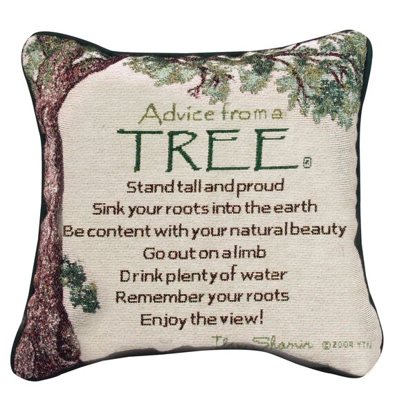Advice From A Tree Throw Pillow By Manual Woodworkers & Weavers.
