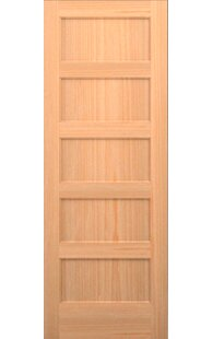 Wood 5 Panel Slab Interior Door
