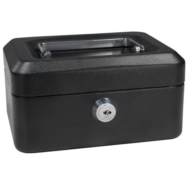 Extra Small Black Cash Box with Key Lock by Barska