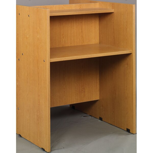 Library Wood 48 Study Carrel by Stevens ID Systems