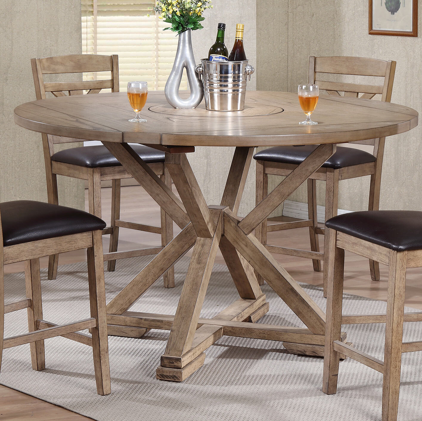 Drop Leaf Gray Wood Kitchen Dining Tables You Ll Love In 2021 Wayfair
