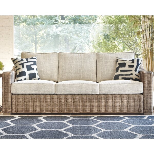 Gilchrist Patio Sofa with Cushions by Rosecliff Heights