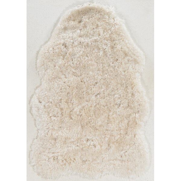Borealis Hand-Tufted Faux Sheepskin Ivory Area Rug by Willa Arlo Interiors