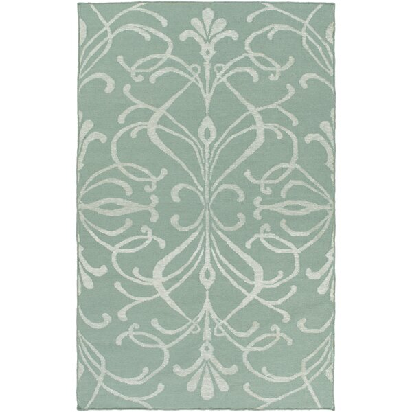 Delavan Hand Woven Green Area Rug by Charlton Home