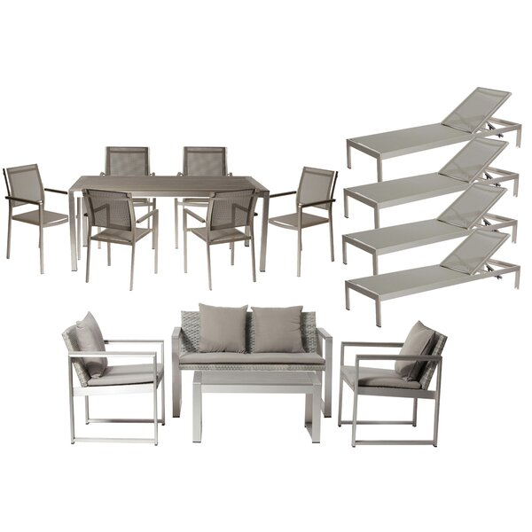 Dorsey 15 Piece Conversationl Set with Cushions by Wade Logan