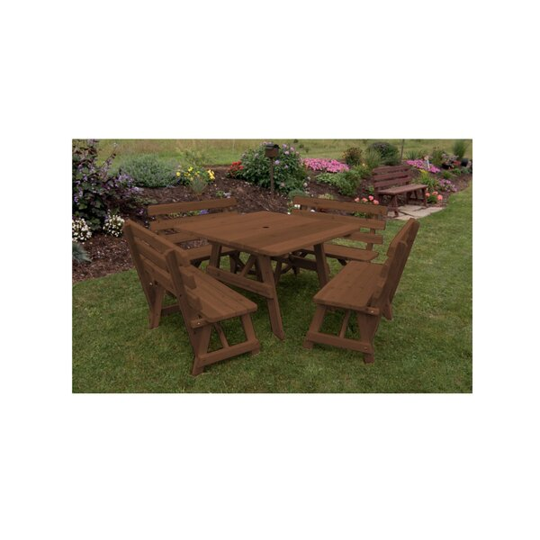 Bermondsey 5 Piece Picnic Table By Rosecliff Heights by Rosecliff Heights Herry Up
