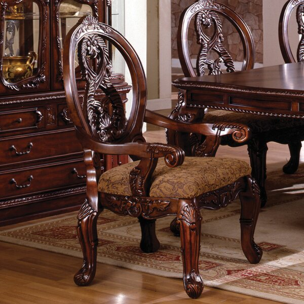 Erie Queen Anne Back Arm Chair (Set of 2) by Astoria Grand Astoria Grand