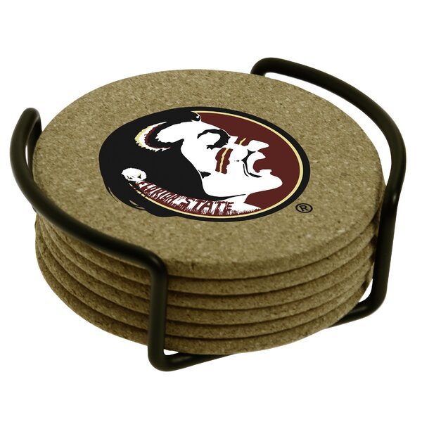 7 Piece Florida State University Cork Collegiate Coaster Gift Set by Thirstystone