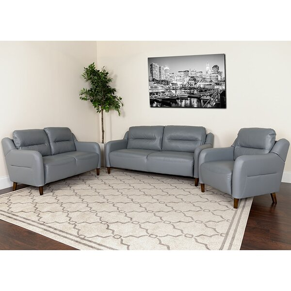 Greysen Upholstered Bustle Back 3 Piece Living Room Set by Brayden Studio