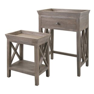 Drawer Equipped Nesting Tables Youll Love Wayfair - Nesting table with drawer