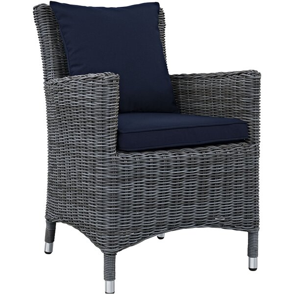 Keiran Patio Dining Chair with Cushion by Brayden Studio