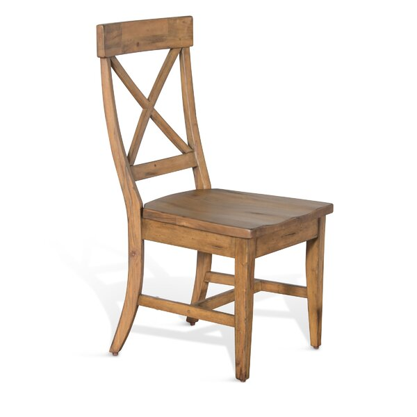 Durocher Dry Leaf Crossback Solid Wood Dining Chair by August Grove