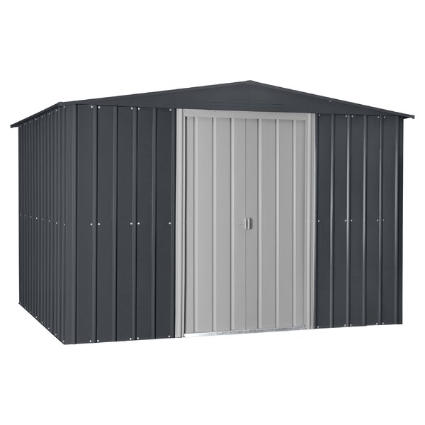 10 ft. W x 12 ft. D Metal Traditional Storage Shed by Globel