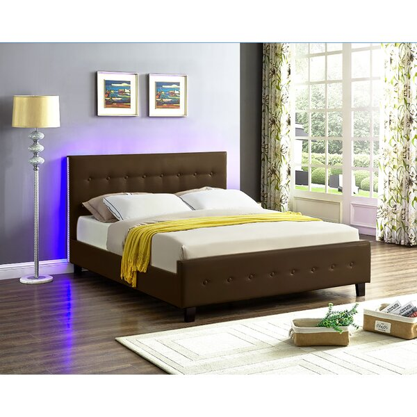 Causglen LED Upholstered Platform Bed by Ebern Designs