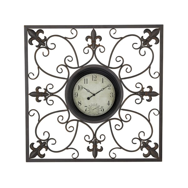 Czerwinski Traditional Tin Scrollwork Analog Wall Clock by Fleur De Lis Living