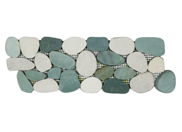Ganges 4 x 12 Natural Stone Border Tile in Gray/White by CNK Tile