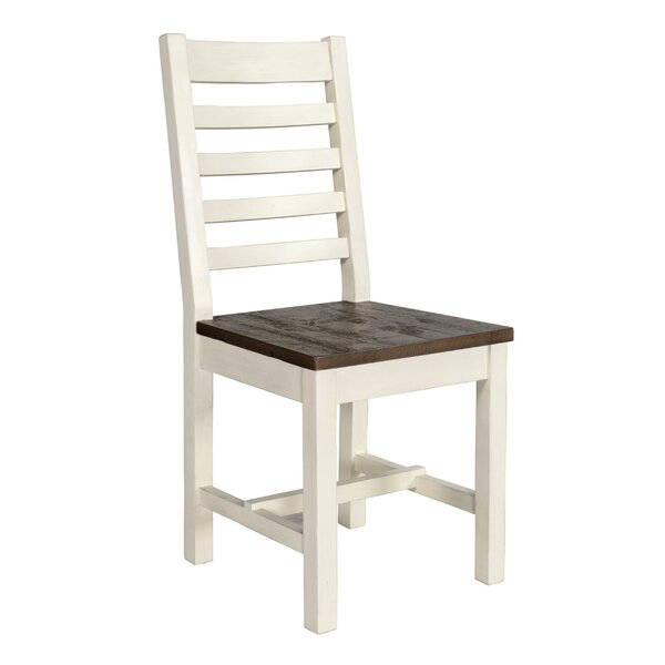 Garrick Ladder Back Side Chair In White (Set Of 2) By August Grove