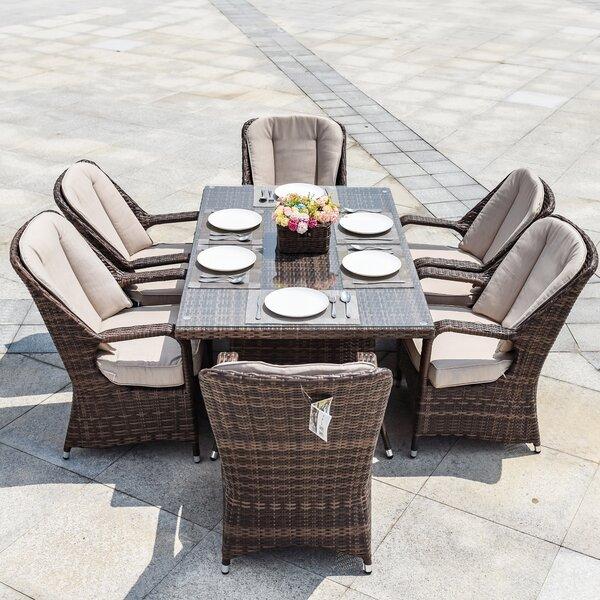 Carlisle 7 Piece Dining Set with Cushions