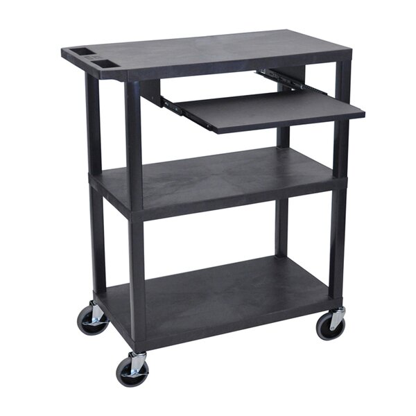 Flat Shelf AV Cart by Offex
