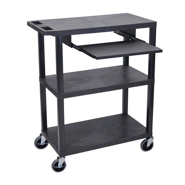 Flat Shelf AV Cart by Offex