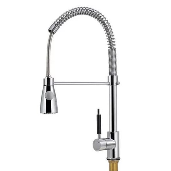 Pro-Style Pull Down Single Handle Kitchen Faucet by Calhome
