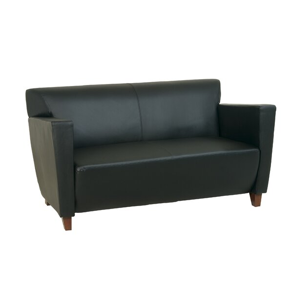 Fowlerton Leather Settee By Ebern Designs