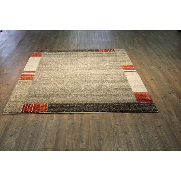 Hirschman Brown/Beige Area Rug by Latitude Run