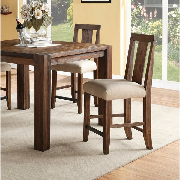 Heyman Wooden Counter Height Bar Stool by Millwood Pines