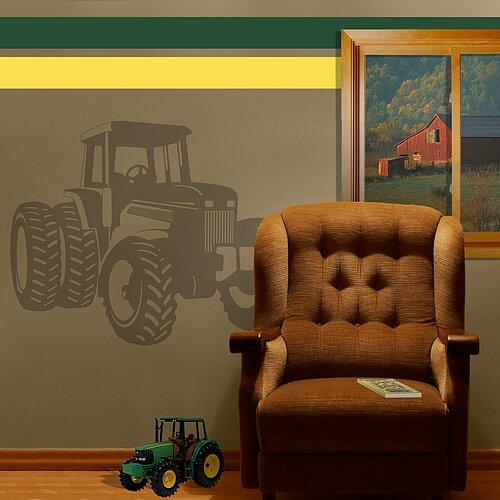 Tractor Sudden Shadow Wall Decal by Borders Unlimited