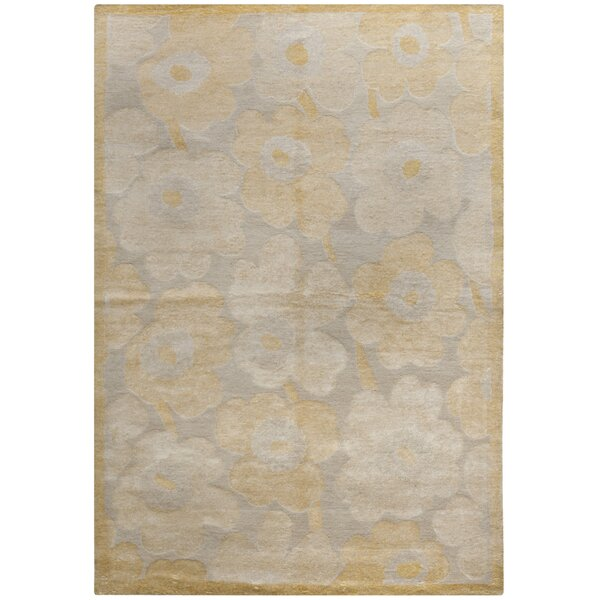 Iglesias Tibetan Hand Knotted Creme/Yellow Area Rug by Mercer41