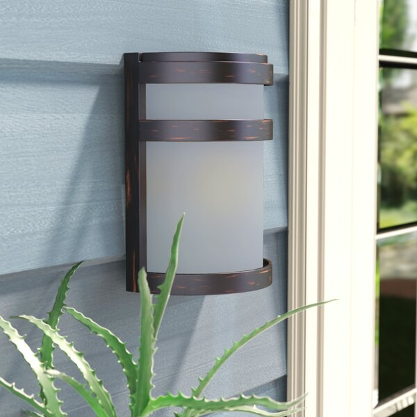 Alyce 1-Light Outdoor Bulkhead Light by Zipcode Design