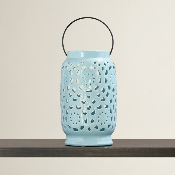 Ceramic Lantern with Handle by Mistana