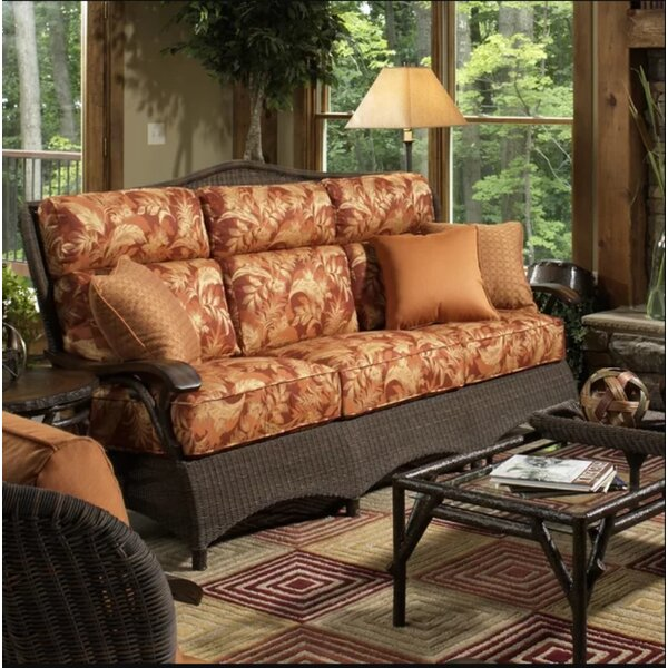 Chatham Sofa Rattan with Cushions by Woodard
