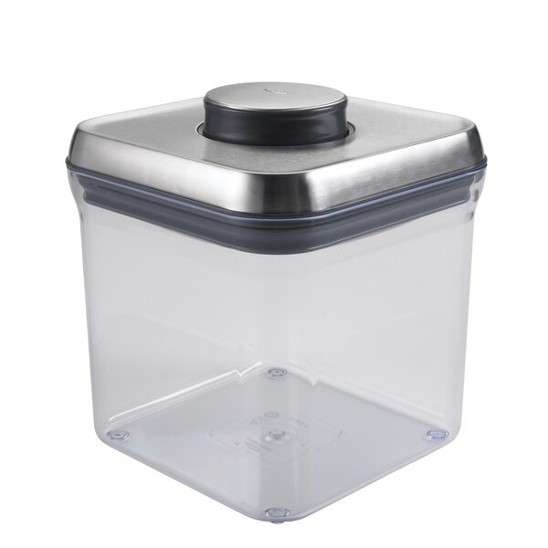 SteeL Big Square Pop 76.8 Oz. Food Storage Container by OXO
