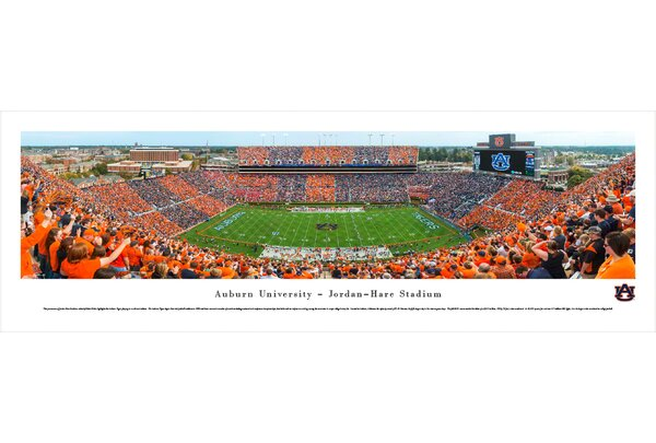 NCAA Auburn University Football - Stripe The Stadium by Christopher Gjevre Photographic Print by Blakeway Worldwide Panoramas, Inc