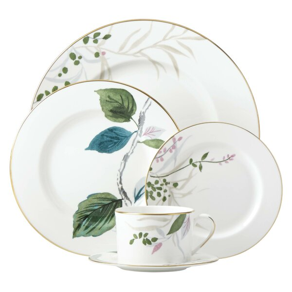 Birchway Bone China 5 Piece Place Setting, Service for 1 by kate spade new york
