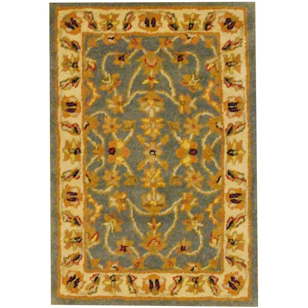 Hand-Tufted Blue/Gold Area Rug by Herat Oriental