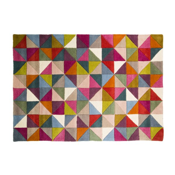 Brigg Hand-Tufted Wool Blue/Pink Area Rug