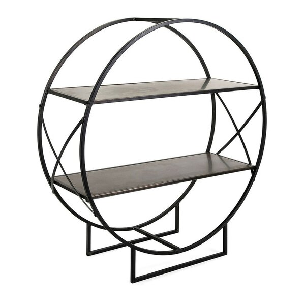 Lusty Zayden Round Metal Shelf by Benzara