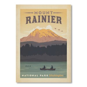 National Park Mount Rainier Vintage Advertisement by East Urban Home