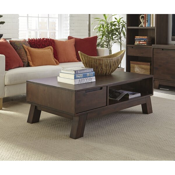 Damiani Solid Wood Coffee Table With Storage By Brayden Studio
