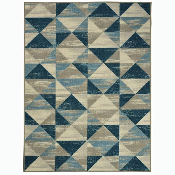 Glasper Blue/Green/Navy Indoor/Outdoor Area Rug by Wrought Studio