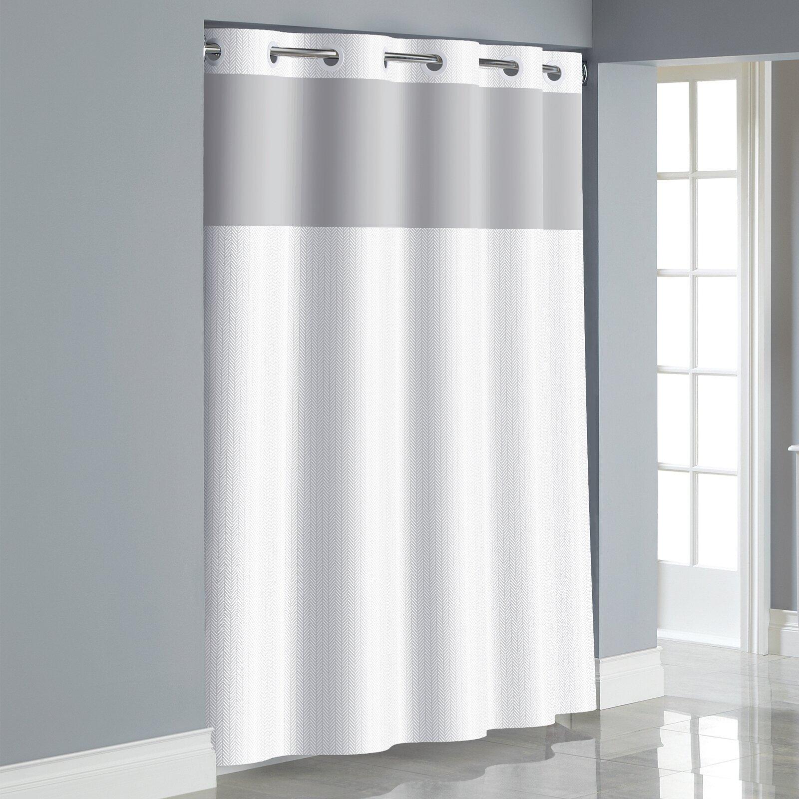 Hookless Herringbone Shower Curtain & Reviews   Wayfair